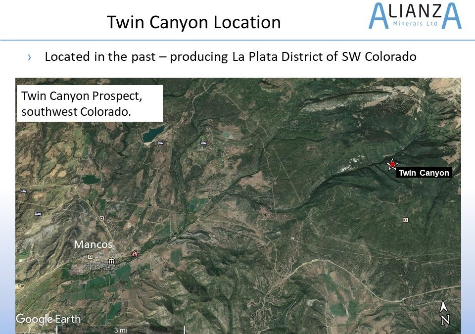 Alianza Minerals Acquires Twin Canyon Gold Property Lease, Colorado
